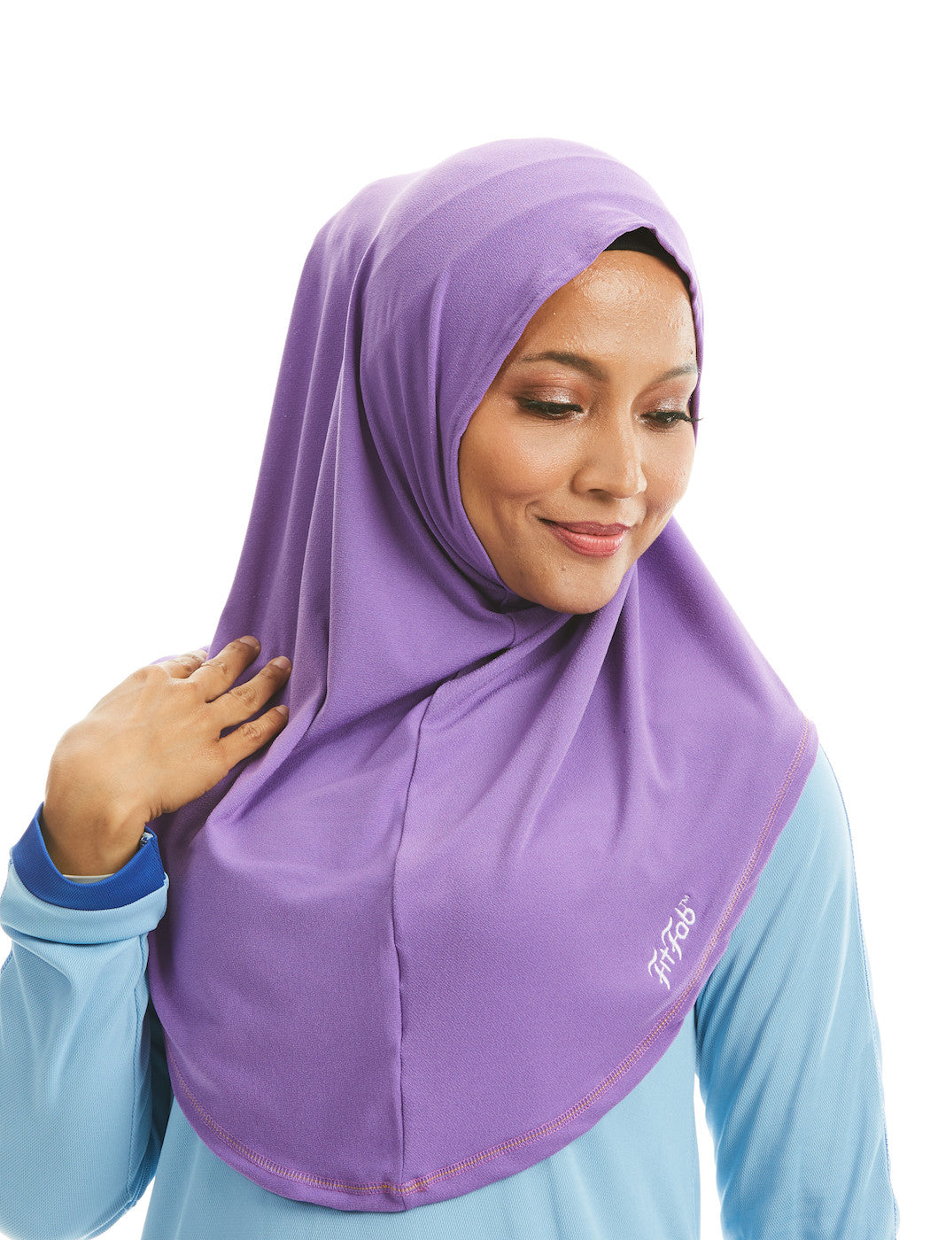 Sporty Hijab Purple Petal no Awning