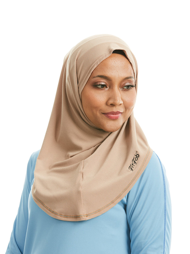 Sporty Hijab Khaki Tan no Awning