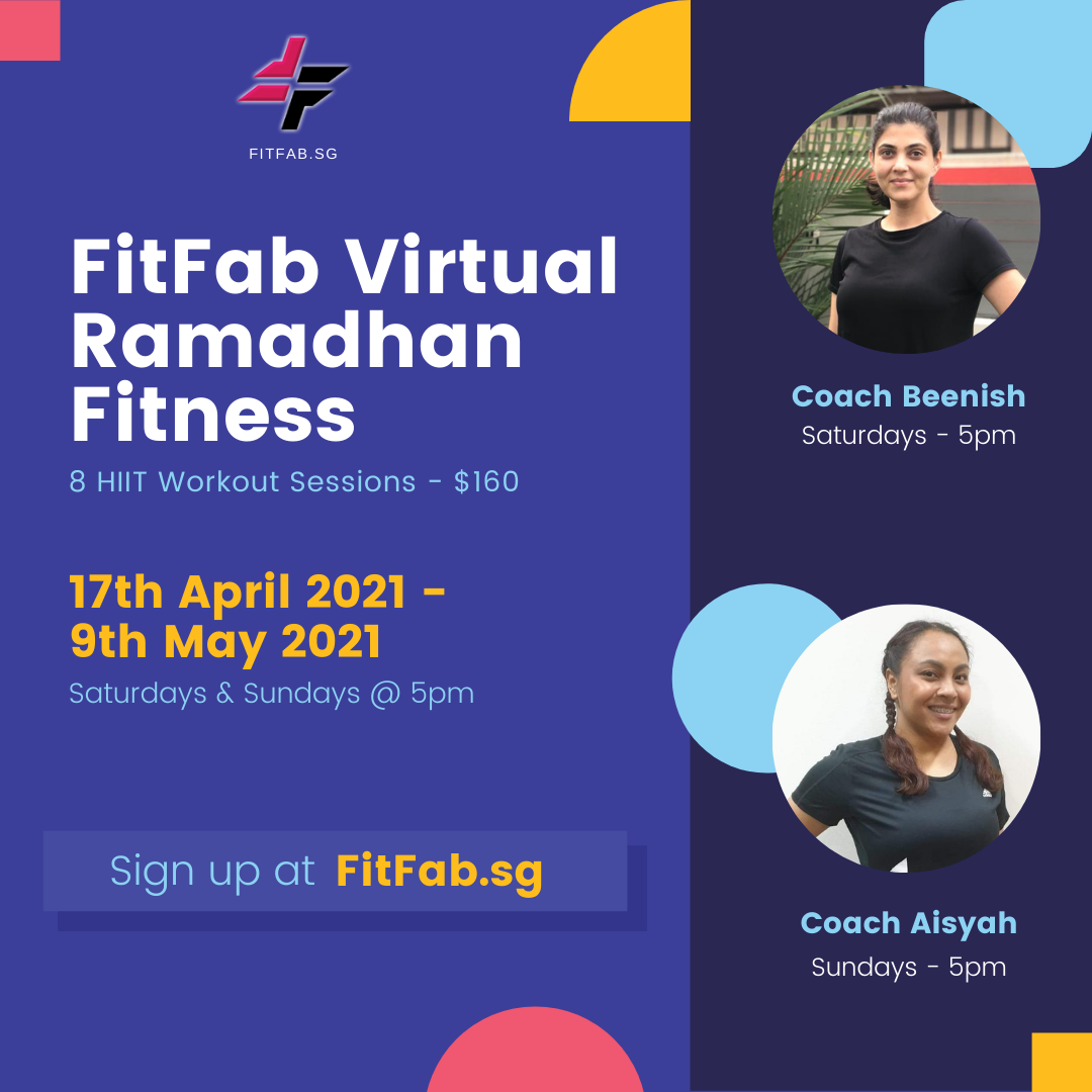 FitFab Virtual Ramadhan Fitness - 4 or 8 Sessions