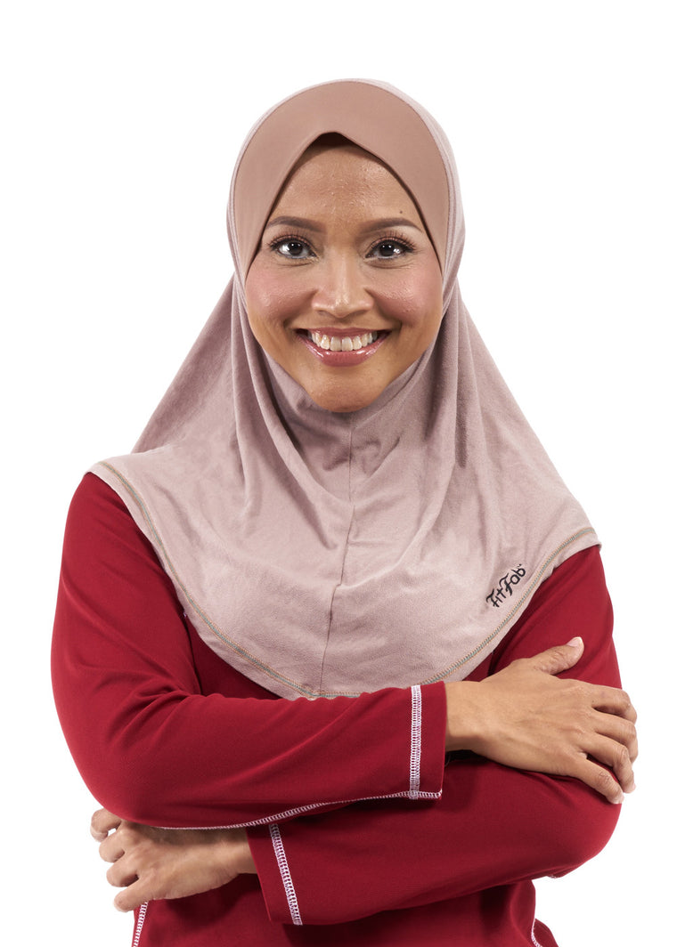 Sporty Hijab Khaki Tan with Awning
