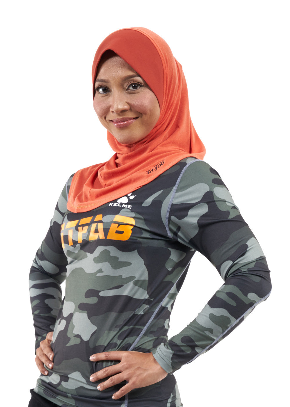 Sporty Hijab Tangy Tango with Awning