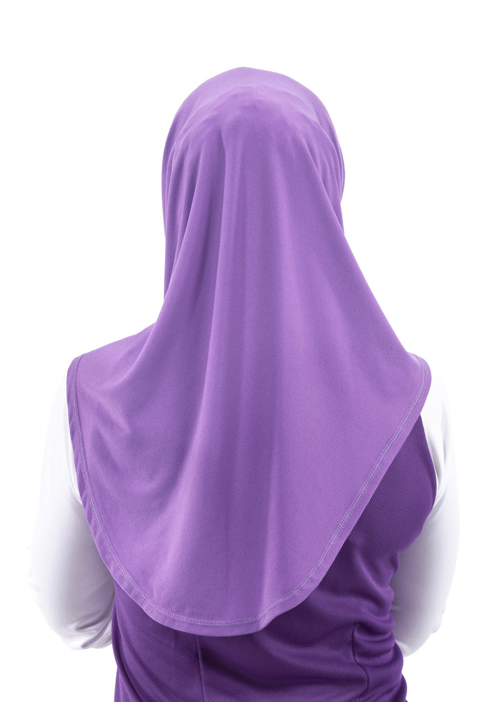 Sporty Hijab Purple Petal with Awning