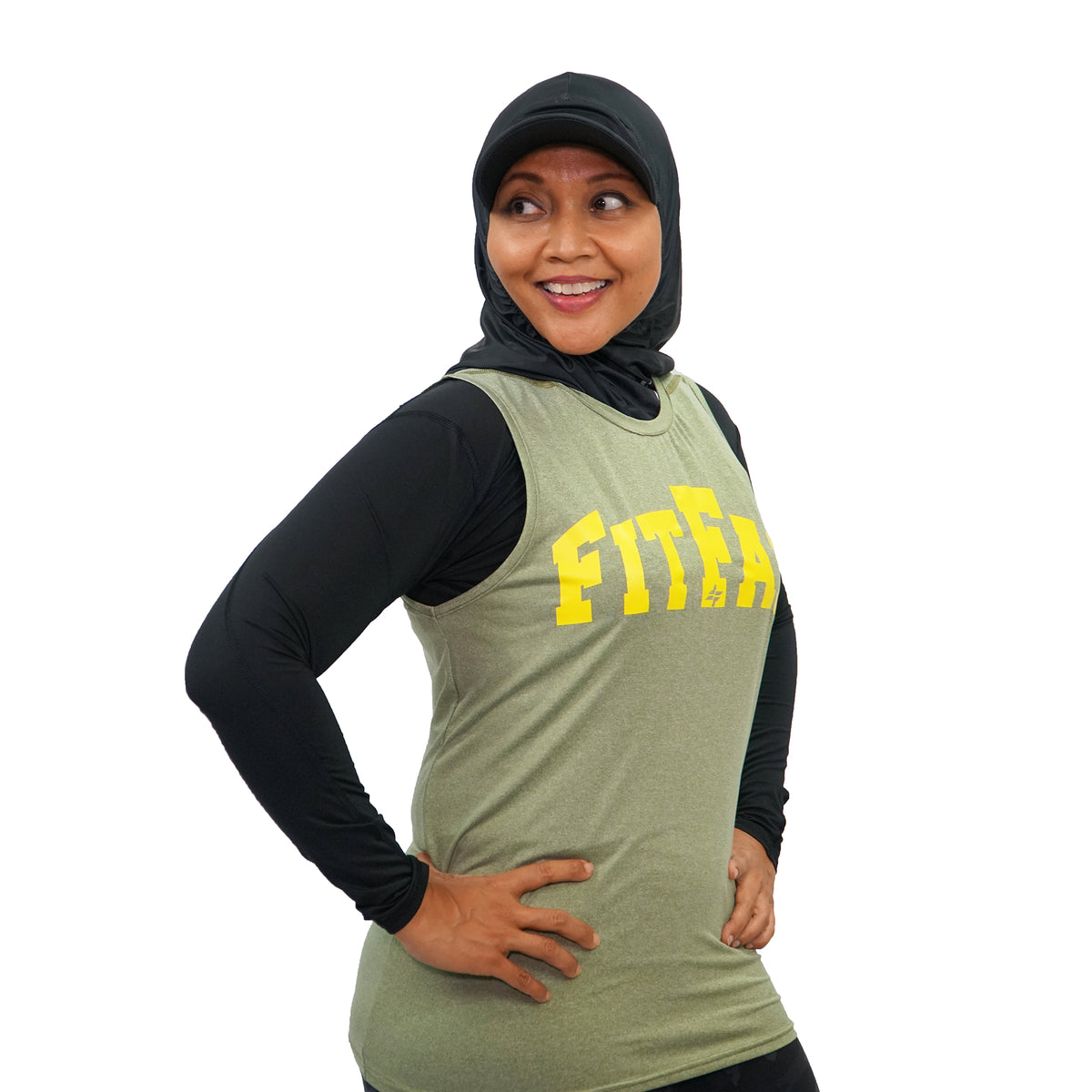 Powerlifting Top - Olive Green