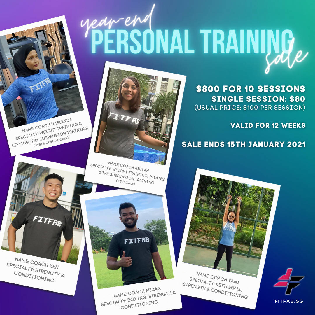 Year End Personal Training Sale 2020