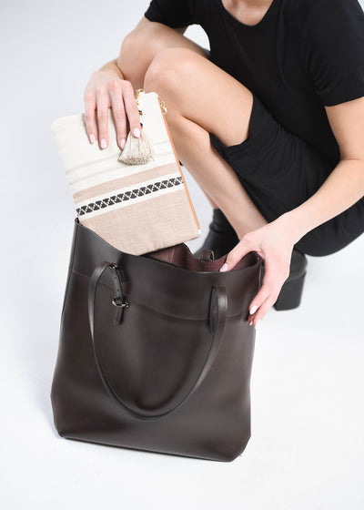 Paula Leather Clutch