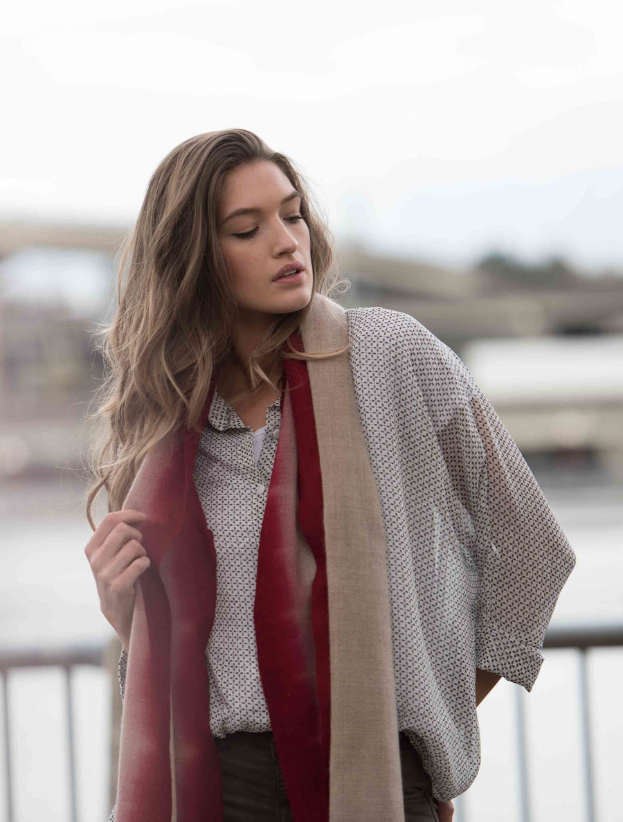Cloud Cashmere Scarf - Wine