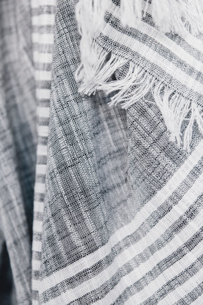 Malabar Gray Cotton Scarf