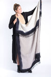 Cloud Woolen Throw - Gray