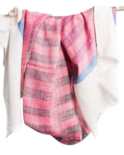 Coral Pashmina Cashmere Scarf