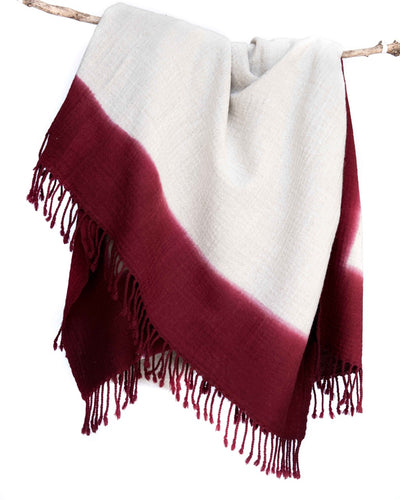 Cloud Woolen Throw - Wine