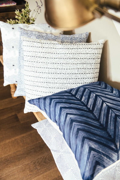 Edge Kantha Pillow