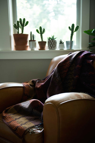 Chevron Jacquard Throw