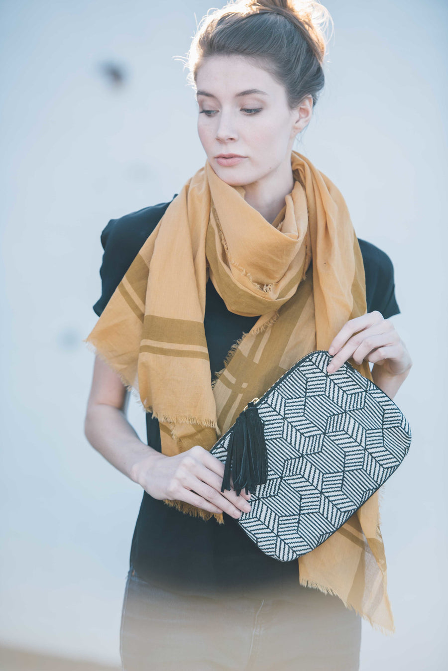 Elise Amber Cotton Scarf