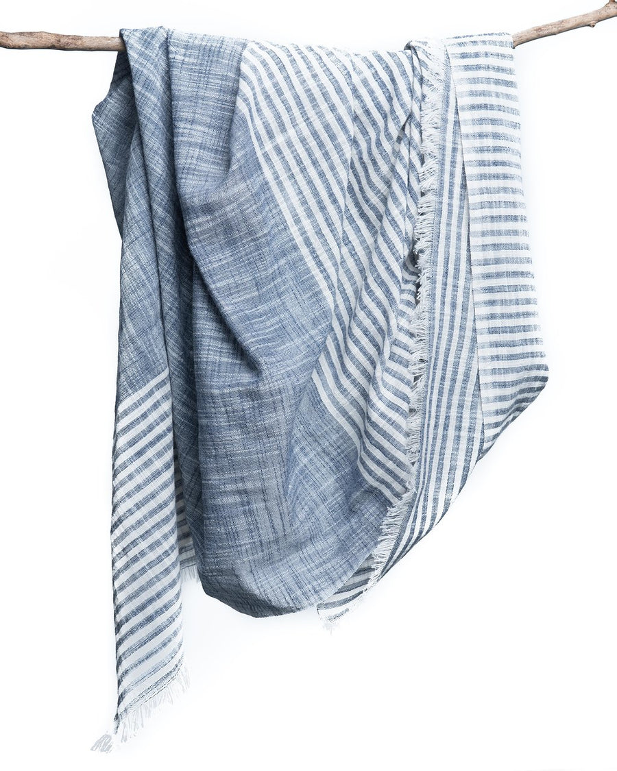 Malabar Blue Cotton Scarf