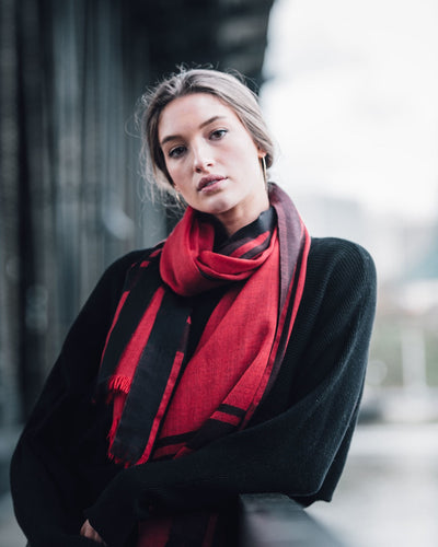 Tribute Woolen Scarf - Red