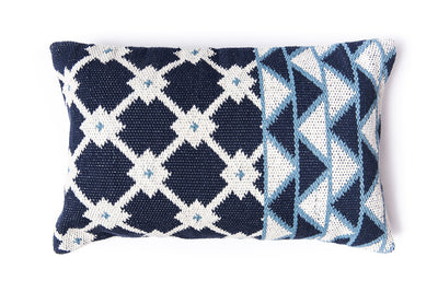 Tina Indigo Cotton Pillow
