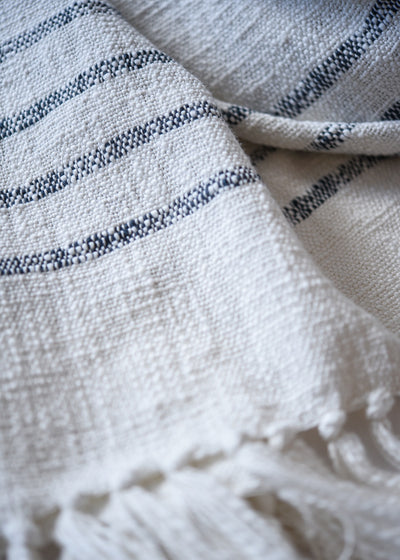 Duka Throw/Blanket - Ivory