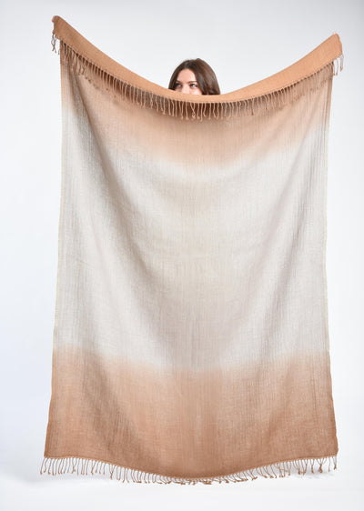 Ewa Throw/Blanket - Camel
