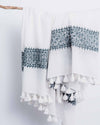 Konark Charcoal/White Cotton Scarf