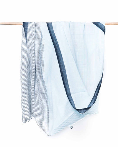 Haiku Organic Cotton Scarf - Blue