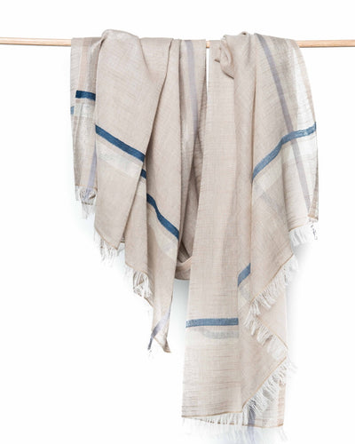 Eva Cotton Scarf - Natural