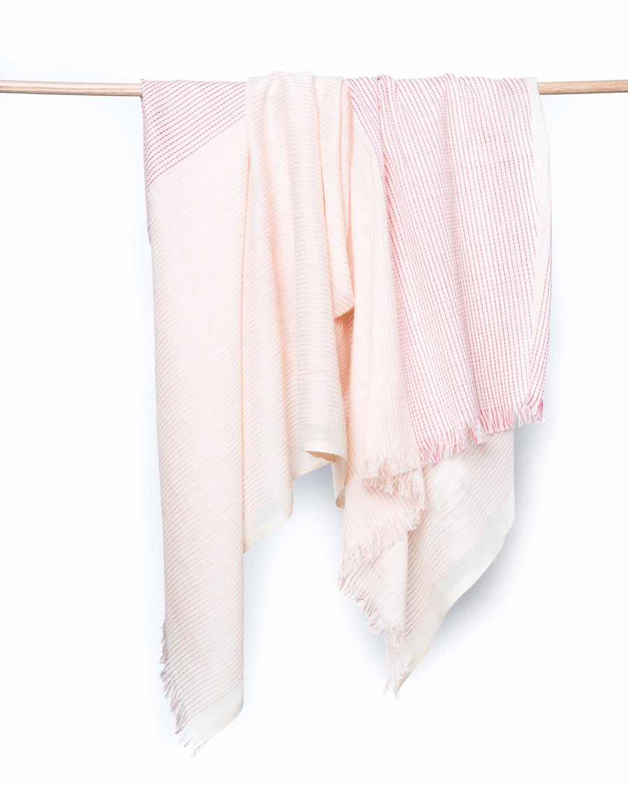 Haiku Organic Cotton Scarf - Coral