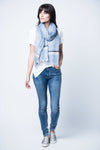 Eva Cotton Scarf - Blue
