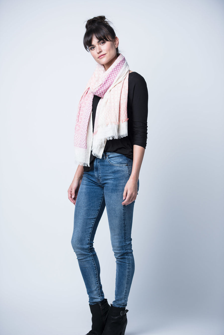 Rita Cotton Scarf - Rose