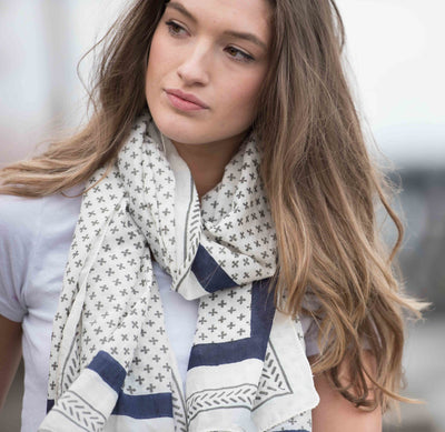 Santorini Silk Cotton Scarf