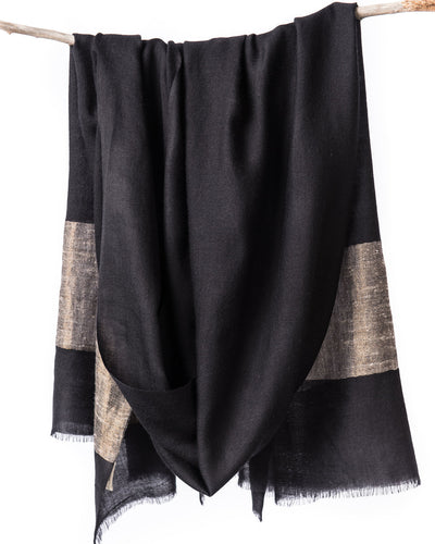 Heirloom Cashmere Scarf - Black