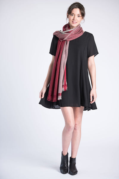 Tribute Woolen Scarf - Burgundy
