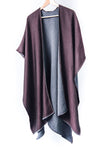 Lara Reversible Wrap - Burgundy