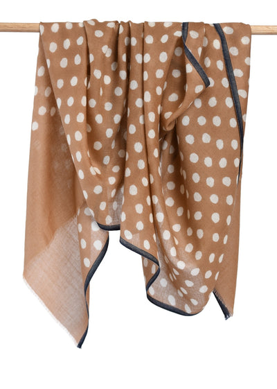 Maya Dot Scarf - Brush