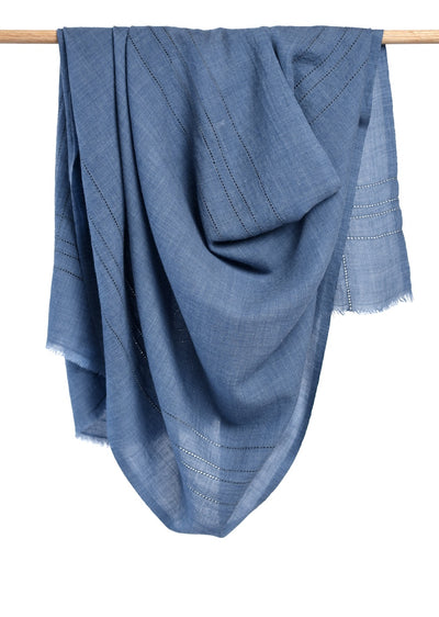 Anufred Scarf - English Blue