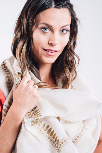 Aari Natural Silk Scarf