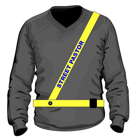 Street Pastor High-Vis Belt and Sash M/L