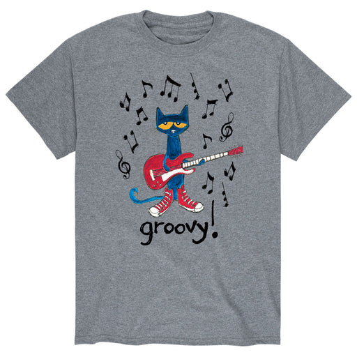 Pete the Cat Groovy Guitar Adult Short Sleeve Tee