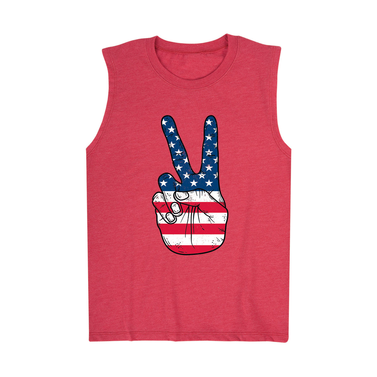 USA Flag Peace Sign Fingers - Youth Tank Top