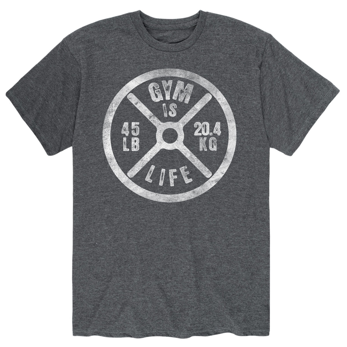 Gym Is Life, Weight Plate - Men's Short Sleeve T-Shirt