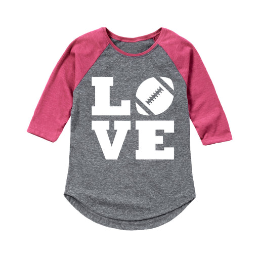 Love Stacked - Youth Girl Raglan