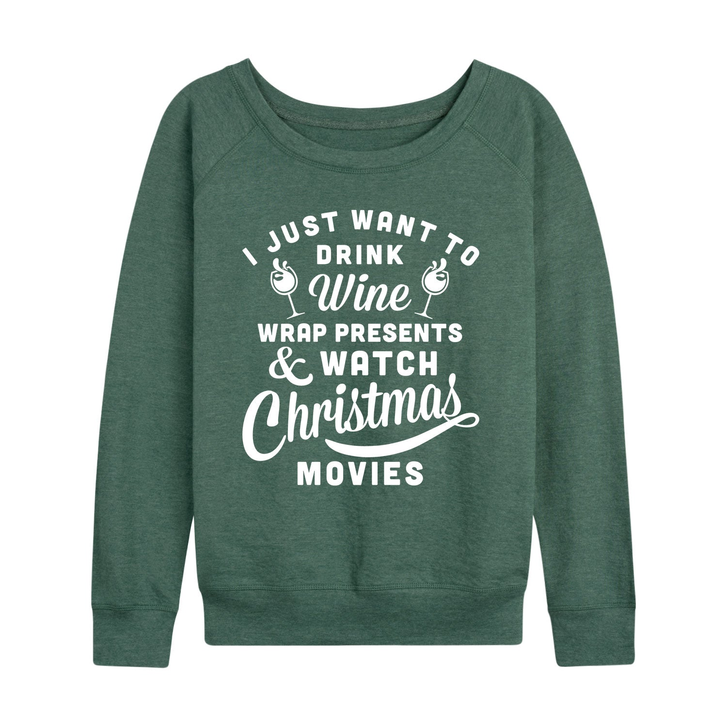 Wine Presents Christmas Movies - Women's Slouchy