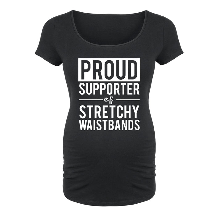 Supporter of Stretchy Waistbands - Maternity Short Sleeve T-Shirt