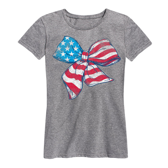American Flag Bow Ladies Classic Tee