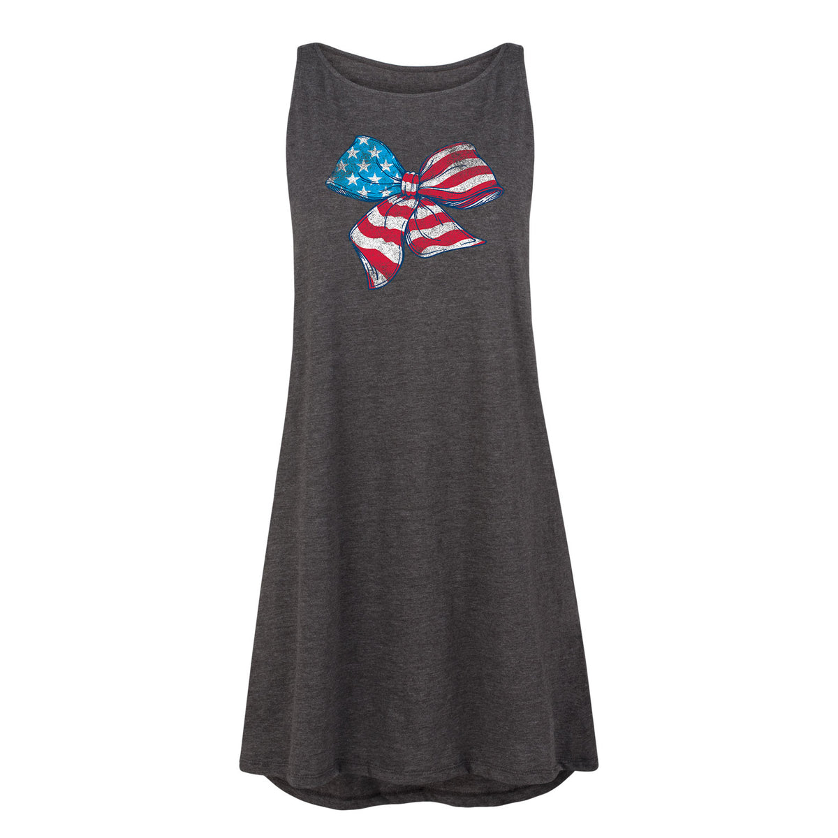 American Bow Flag Red White and Blue Women's Shift Dress