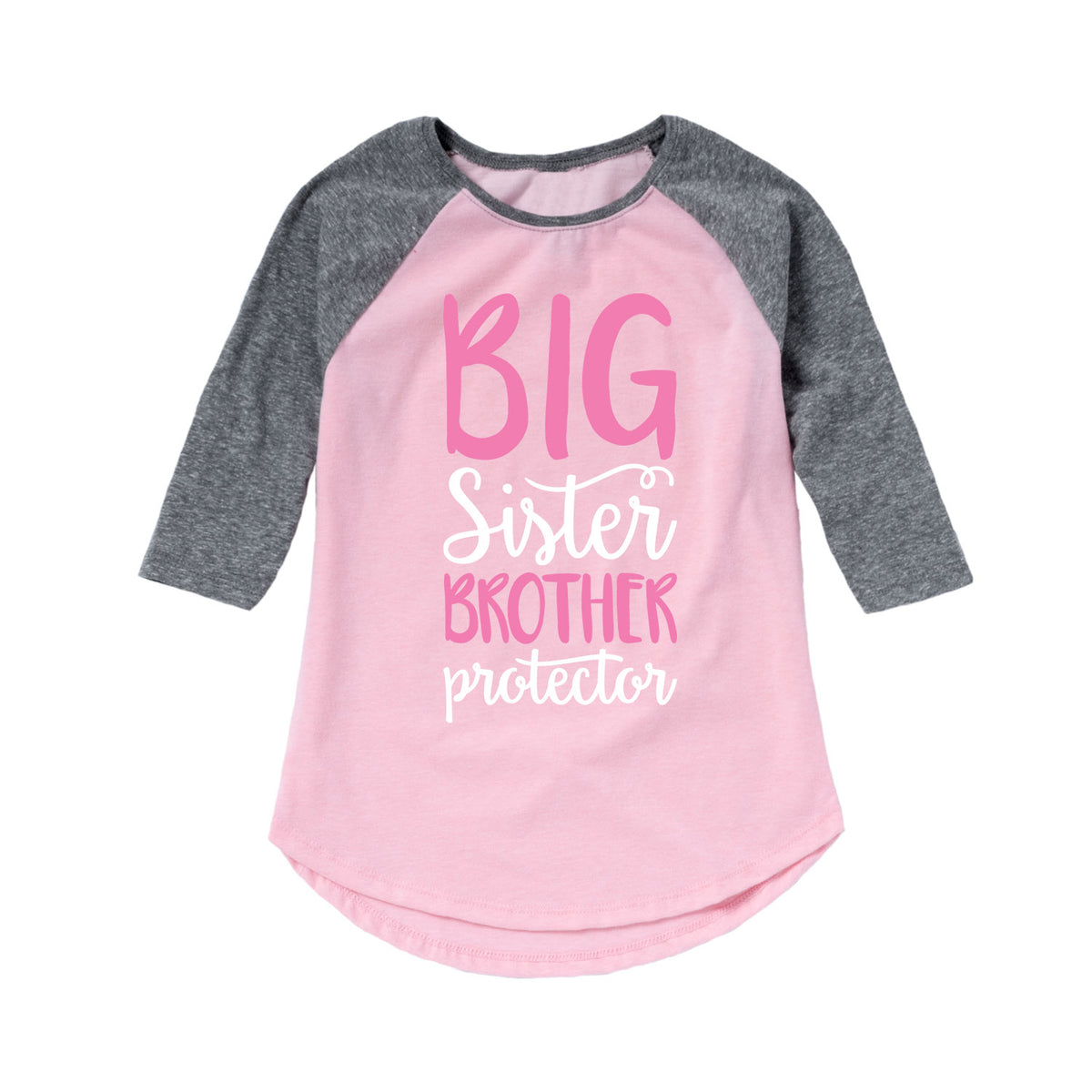 Big Sister Brother Protector - Youth & Toddler Girls Raglan