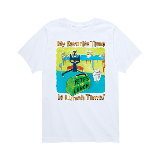 Pete The Cat© My Favorite Time Kids Short Sleeve Tee