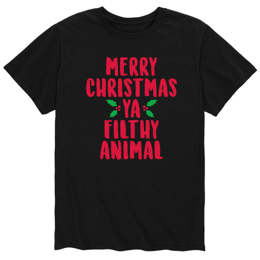 Merry Christmas Ya Filthy Animal - Men's Short Sleeve T-Shirt