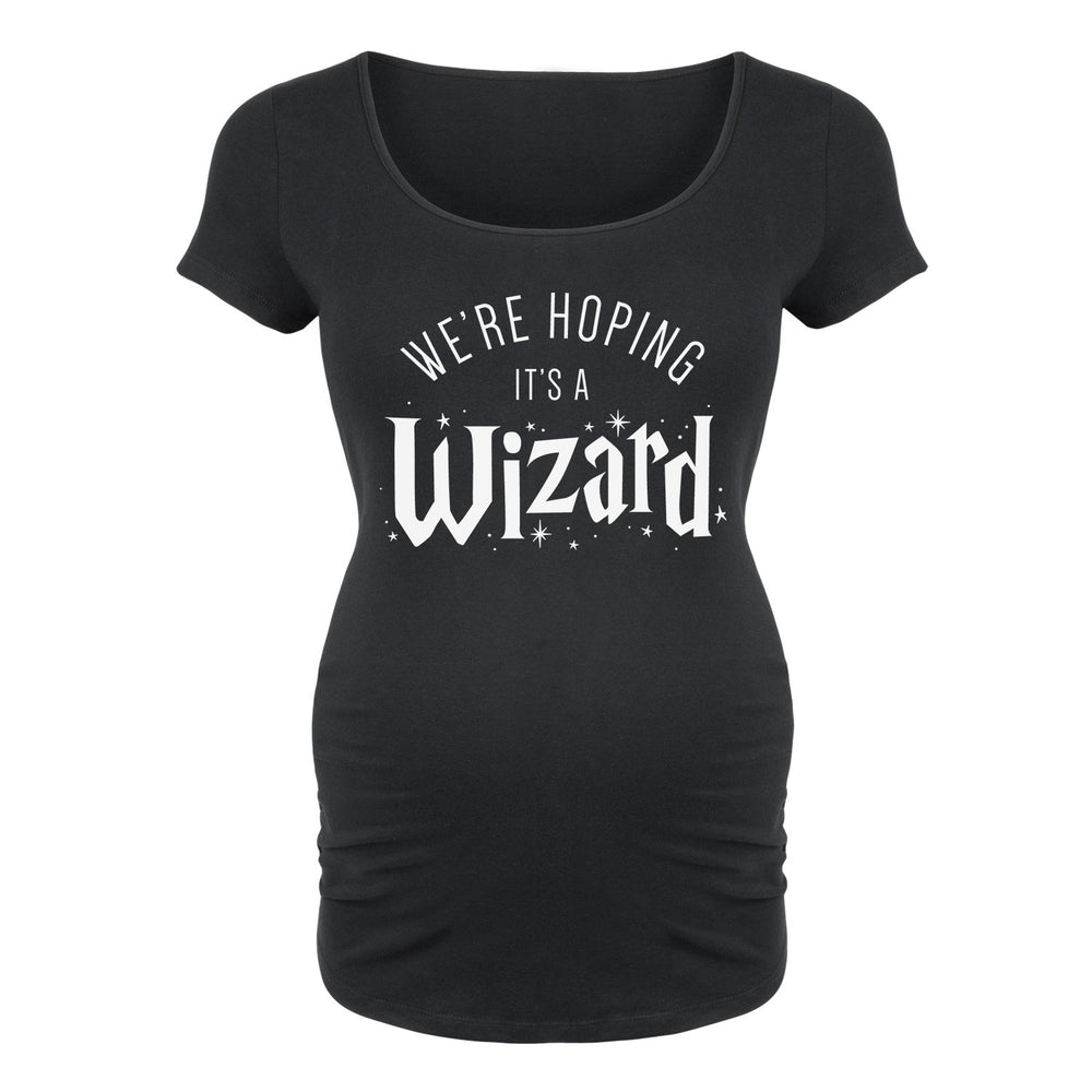 We're Hoping It's a Wizard - Maternity Short Sleeve T-Shirt