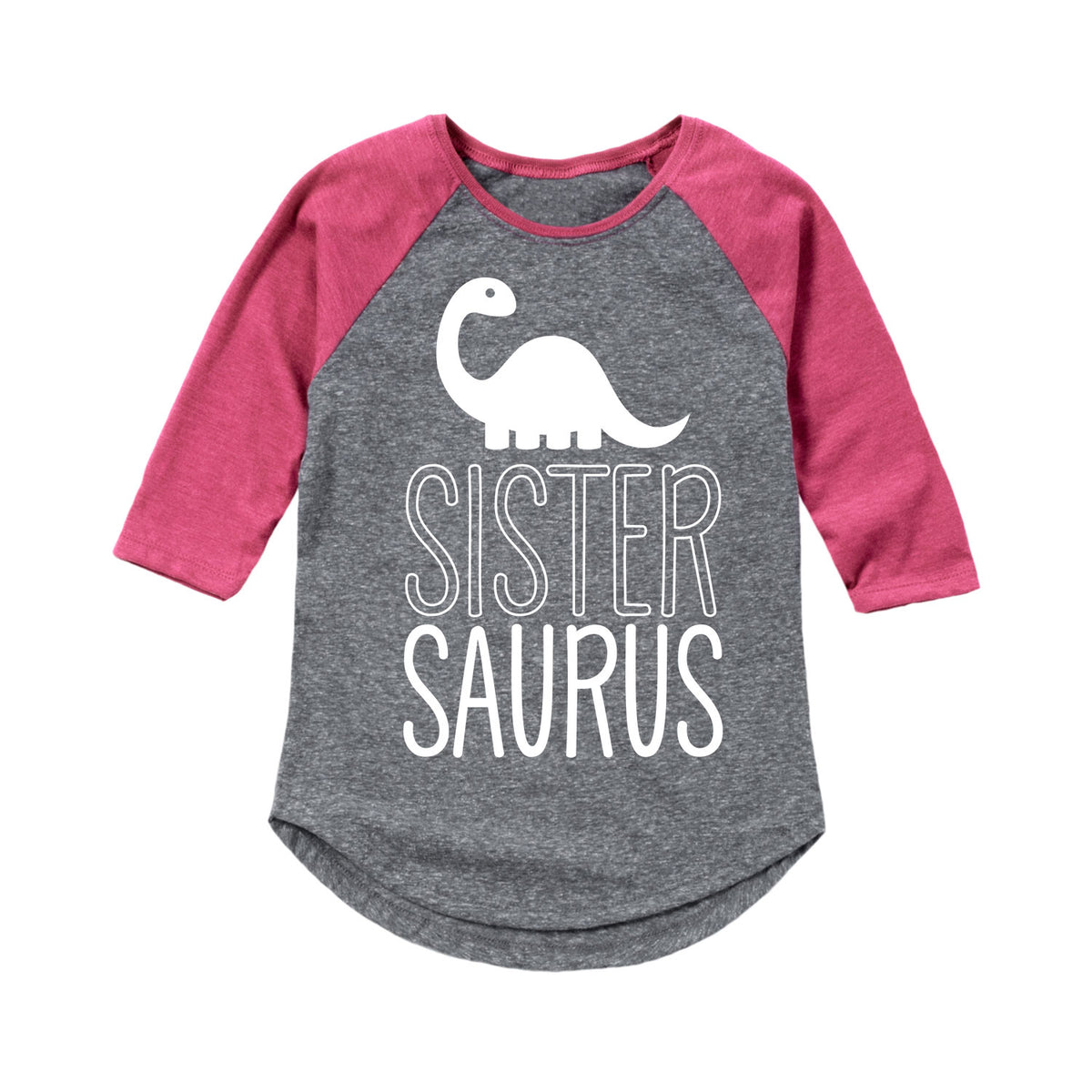 Sistersaurus - Toddler Girl Raglan