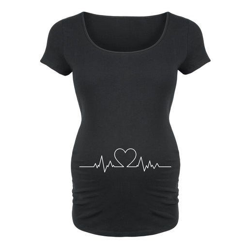 Heart Beat Line - Maternity Short Sleeve T-Shirt